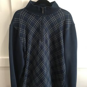 ASHWORTH - 2XL PULL OVER 1/4 ZIP SWEATER